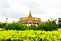 The royal palace park phnom penh cambodia Royalty Free Stock Images