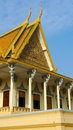 Royal Palace in Phnom Penh Royalty-vrije Stock Afbeelding