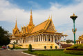 Royal palace in phnom penh cambodia february the throne hall of tourists visiting the Stock Photography