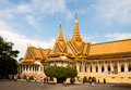 Royal palace in phnom penh cambodia february the throne hall of tourists visiting the Stock Photos