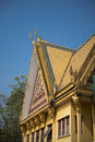 Royal palace of phnom penh golden roof Royalty Free Stock Image