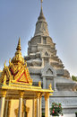 Royal palace phnom penh structures at the in cambodia Royalty Free Stock Photography
