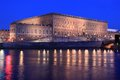 Royal palace in Stockholm Royalty Free Stock Photo