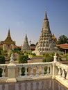 Royal Palace, Stupa, Cambodge Photo libre de droits
