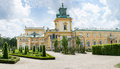 Royal Palace Wilanow in Warsaw, Poland Royalty Free Stock Photo