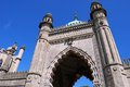 Royal Pavilion archway, Brighton. Royalty Free Stock Photo