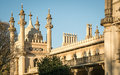 Royal Pavilion detail at dusk, Brighton, UK. Royalty Free Stock Photo