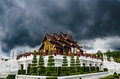 Royal pavilion or ho kum luang royal flora expo chiang mai Royalty Free Stock Photography