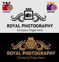 Royal photography logos different silhouettes and logo jpeg and eps Stock Photography