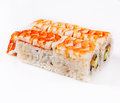Royal shrimp sushi roll Stock Photos