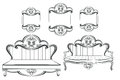 Royal Sofa and Frames set in Baroque Rococo style