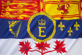 Royal standard of canada the employed by members the canadian family to mark the presence the bearer at any building Royalty Free Stock Image