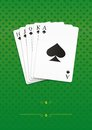 Royal straight flush playing cards poker Royalty Free Stock Photo