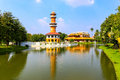 Royal summer residence bang pa in thailand Royalty Free Stock Photo
