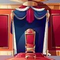Royal throne in medieval castle cartoon vector