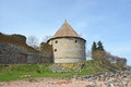 Royal tower of the fortress at shlisselburg city called oreshek nut Stock Image