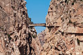 Royal trail el caminito del rey in gorge chorro malaga provin province spain Royalty Free Stock Image