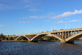 Royal tweed bridge berwick upon tweed view of the in northumberland england crossing the river it was built as a road Royalty Free Stock Image