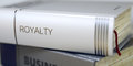 Royalty - Book Title. 3D. Royalty Free Stock Photo