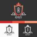 Royalty crest ornament template modern vector eps concept illustration design vintage logo stylish with transparencies Royalty Free Stock Photos