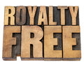 Royalty free in wood type Royalty Free Stock Photo