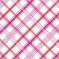 Roze Plaid Stock Foto