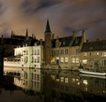Rozenhoedkaai Bruges Royalty Free Stock Photo