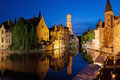 Rozenhoedkaai in Bruges, Belgium Royalty Free Stock Photo