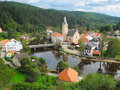 Rozmberk nad vltavou small historical town lies on the banks of the vltava river south bohemia czech republic eu Stock Image