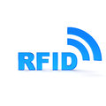 Rrid rfid text in blue color Royalty Free Stock Images