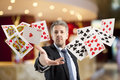 Rroyal flush and full house lucky you poker player royal Royalty Free Stock Images