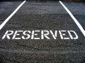 Réservé pour le stationnement de véhicule Photographie stock