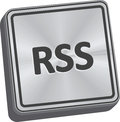 RSS Button Royalty Free Stock Photo