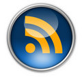 RSS feed button Royalty Free Stock Photo