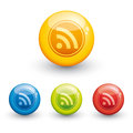RSS glossy icon Royalty Free Stock Photo