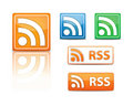 Rss icons  Stock Photo