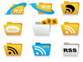 Rss icons Stock Photos