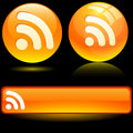 Rss icons. Stock Image