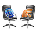 Rss mail in the office on a chair Royalty Free Stock Images