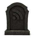 Rss symbol on gravestone d illustration Royalty Free Stock Images