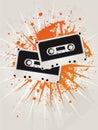 Rétro cassettes grunges d'étoile Photo libre de droits
