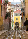 Rua da Bica (Bica Street) and its famous funicular, Lisbon, Portugal Royalty Free Stock Photo