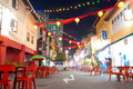 Rua do Chinatown de Singapore Fotografia de Stock Royalty Free