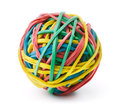 Rubber band ball colorful isolated on white Stock Photos
