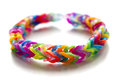 Rubber band bracelet in fish tail style Royalty Free Stock Photo