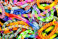 Rubber bands bracelets background made ​​with Stock Photos