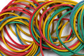 Rubber bands close up Royalty Free Stock Photo