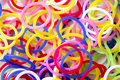 Rubber bands used to make bracelets Stock Image