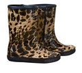 Rubber boots fashionable women s leopard Royalty Free Stock Image