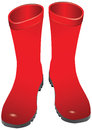 Rubber boots red for wet weather vector illustration Stock Photography